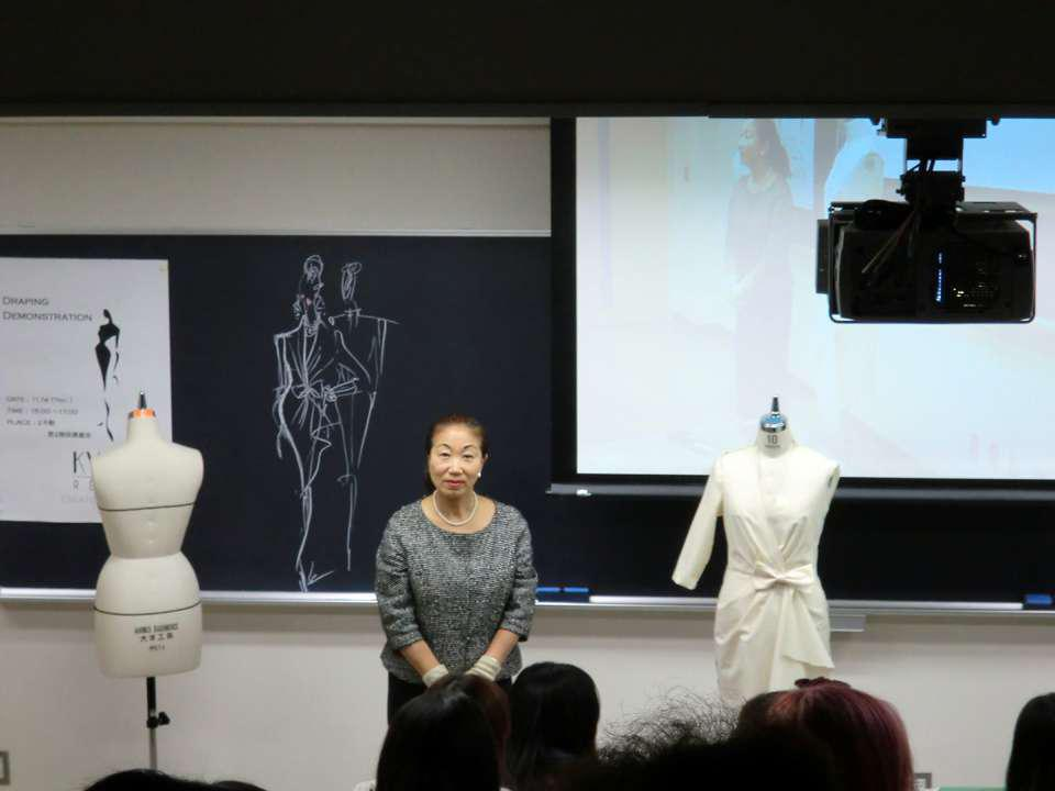 2013-11 : Draping demonstration in Tokyo